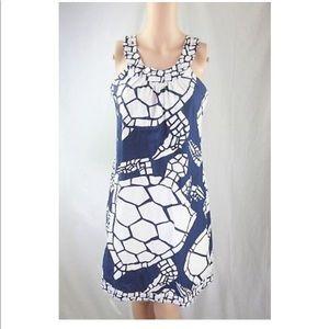 J Crew Turtle Print Shift Sundress Cotton Dress